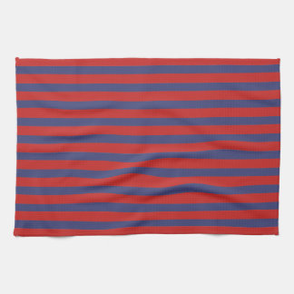 Red & Blue Stripes Tea Towel