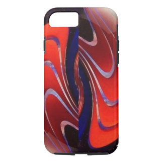 Red blue swirls marble iPhone 8/7 case