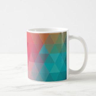 Red Blue Teal Geometric Tiangles Coffee Mug