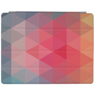 Red Blue Teal Geometric Tiangles iPad Cover