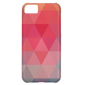 Red Blue Teal Geometric Tiangles iPhone 5C Case