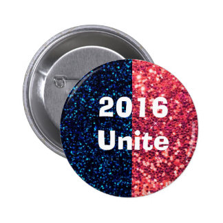 Red & Blue United for 2016 Anti-Trump Button