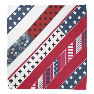Red blue white national Patriotic background . Head Kerchiefs