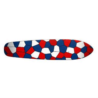 Red Blue White Pattern 21.3 Cm Mini Skateboard Deck