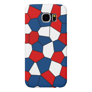 Red Blue White Pattern Samsung Galaxy S6 Cases