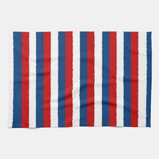 Red Blue White Pattern Tea Towel