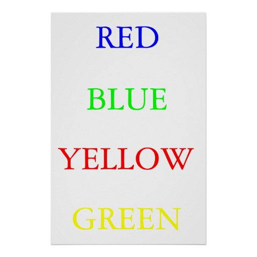 Red Blue Yellow Green Posters