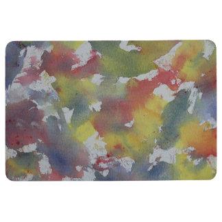 Red Blue Yellow Watercolor Floor Mat
