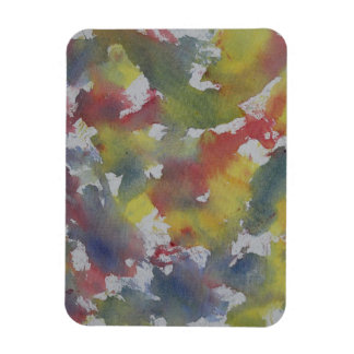 Red Blue Yellow Watercolor Magnet