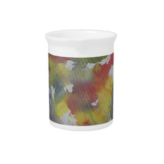 Red Blue Yellow Watercolor Pitcher