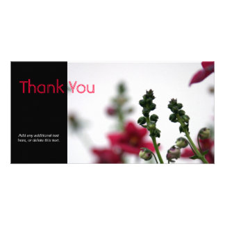 Red blur - Floral Photography Personalized Photo Card