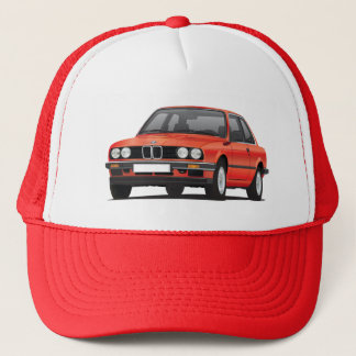 Red BMW 3 series (E30) Trucker Hat