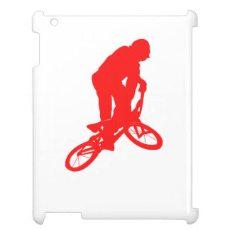 Red BMX Biker Silhouette Case For The iPad 2 3 4