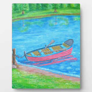 red Boat Photo Plaque