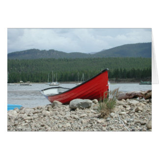 Red Boat Waiting Card