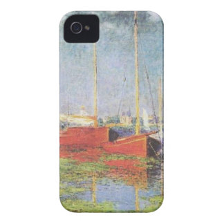 Red Boats at Argenteuil iPhone 4, 4S Case iPhone 4 Case-Mate Cases