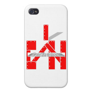 red bolted I can with whatever doesn't kill me iPhone 4 Case