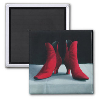 Red Boots 1995 Square Magnet