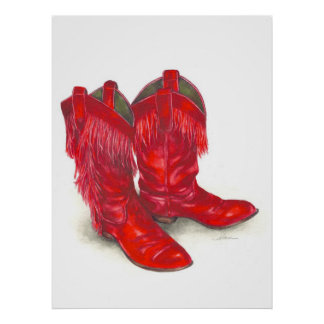 Red Boots Framed Print