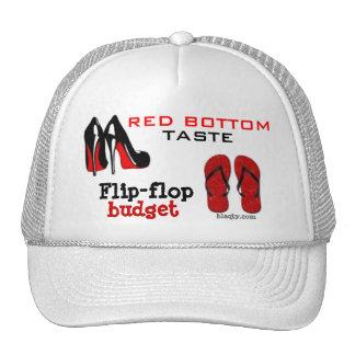 Red bottom hat