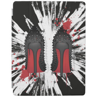 Red bottom shoes with CRAZY background iPad Cover
