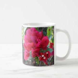 """Red Bougainvillea"" coffee mug"