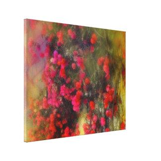 Red Bougainvillea Flowers Impressionism Fine Art Canvas Print
