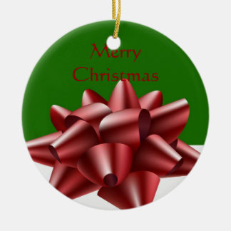 Red Bow Christmas Ornament