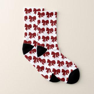 Red Bow Christmas Socks 1