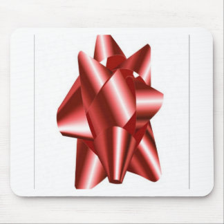 Red bow design mousepad