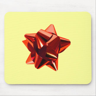 Red Bow, Gift, Holiday Mouse Pad