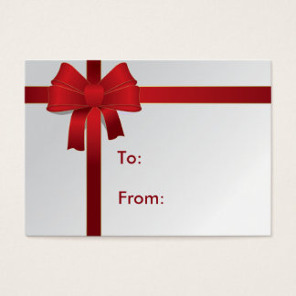 Red Bow Gift Tag