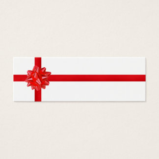Red Bow Mini Business Card