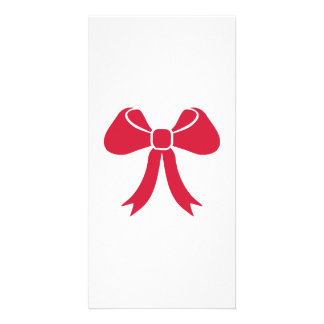 Red bow photo card