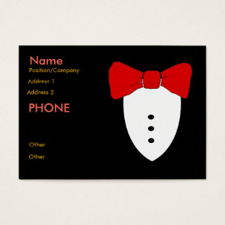 Red Bow Tie Black Tux Business Card