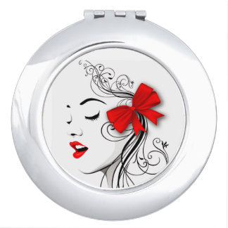 Red bow travel mirrors