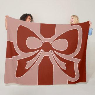 Red Bow - Winter Fleece Blanket