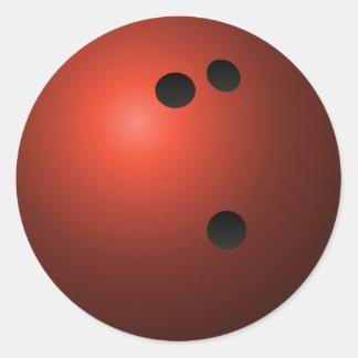 Red Bowling Ball Round Sticker