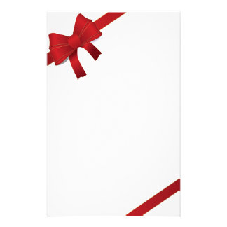 Red Bows Christmas Stationery