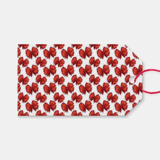 Red Bows Gift Tags