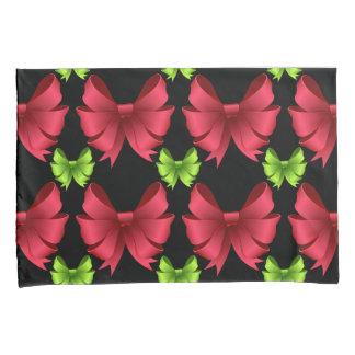 Red Bows Green Bows Pillowcase