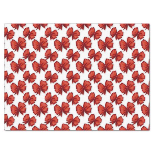 Red Bows Tissue Paper