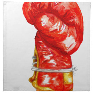 Red Boxing Glove Napkin