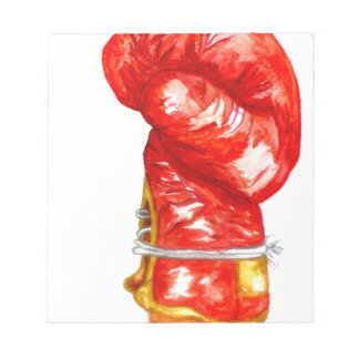 Red Boxing Glove Notepad