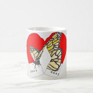 Red Boxing Gloves with Monarch Butterfly on Cup Basic White Mug