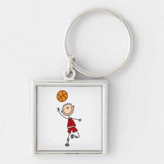 Red Boy Basketball Player t-shirts and Gifts Keychain