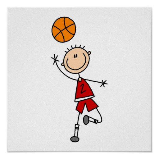 Red Boy Basketball Player t-shirts and Gifts Poster