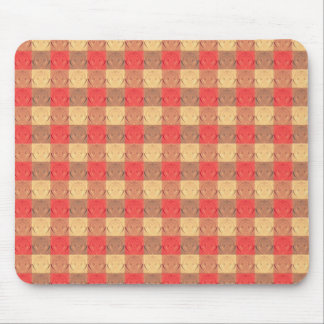 Red Brawn Vintage Grid Pattern Mouse Pads