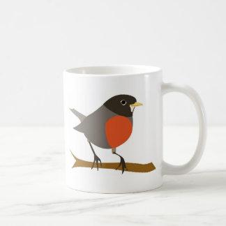 Red Breasted Robin on Branch Mug