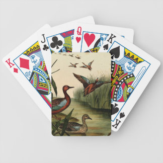 Red Breasted Teal Duck Bicycle Playing Cards